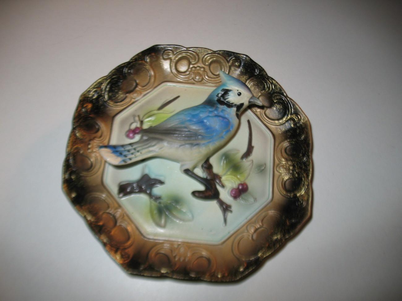 Decorative Wall Plates Nz : Vintage napcoware blue jay wall plate plaque d bird napco