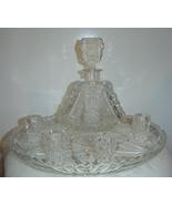American Brilliant Crystal Decanter Cordial Gla... - $799.00