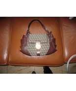Fendi Brown Leather and Canvas Monogrammed Hobo  - $389.00