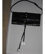 Dolce Gabbana Clutch Handbag Black Reptile Leat... - $728.50