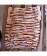 hand knitted all cotton 2 in 1 vest size 5 chil... - $10.00