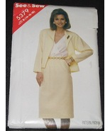 See & Sew 5379 Size B 14-16-18 sewing pattern 1985 - $3.75