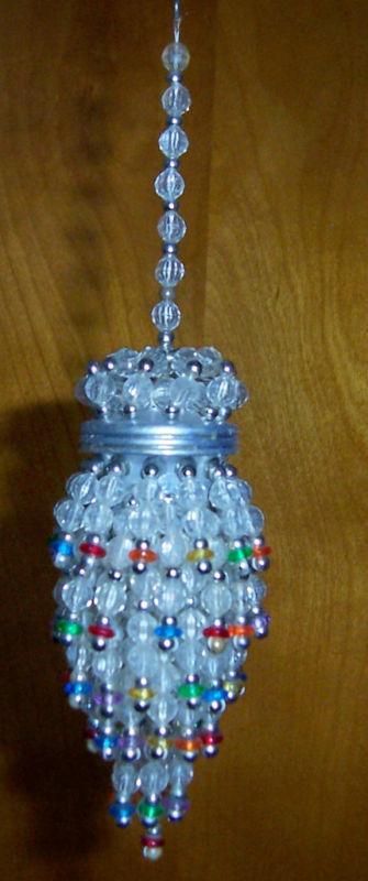 Beaded Multi-Color Tea Ball Strainer Chandelier Ornament ...
