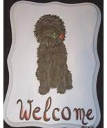 Affenpinscher Dog Custom Painted Welcome Sign P... - $35.00