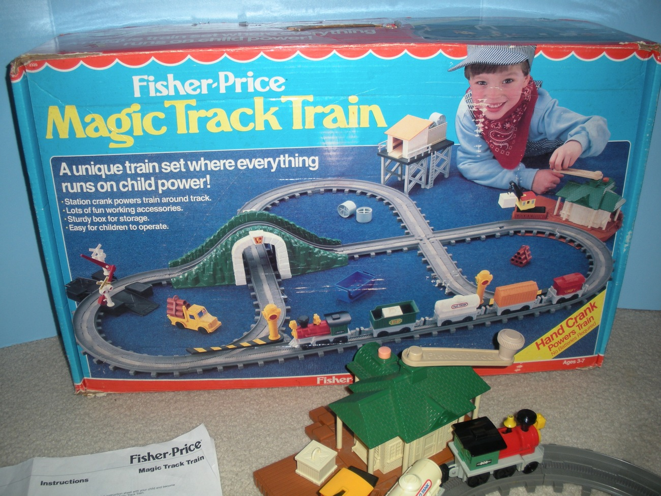 Vintage Fisher Price #2320 Magic Train Track Play Set COMP w/BOX/ NEAR MINT!!