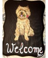 Cairn Terrier Dog Custom Painted Welcome Sign P... - $31.95
