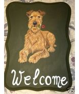 Irish Terrier Dog Custom Painted Welcome Sign P... - $35.00