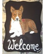 Basenji Dog Custom Painted Welcome Sign Plaque - $35.00