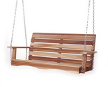 Buy Furniture - New Western Red Cedar Porch Swing Patio Furniture