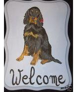 Gordon Setter Dog Custom Painted Welcome Sign P... - $35.00