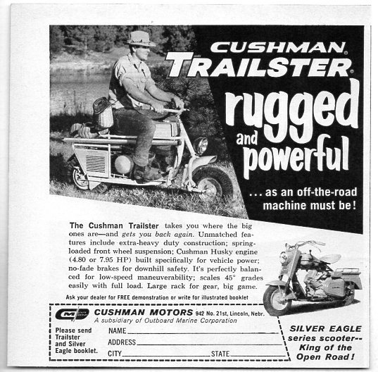 1962 Vintage Ad Cushman Trailster Amp Silver Eagle Motor