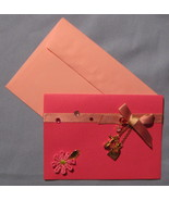 Papyrus All Occasion Pink 6 blank note cards em... - $12.77