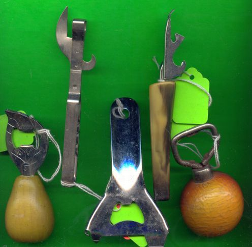 Old Bottle Openers Gadgets/Utensils Lot of 5