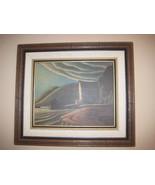 Vintage Lawren Harris The Ice House Framed Oil ... - $40.50