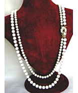 Original by Robert 2 Strand Necklace Glass bead... - $72.00