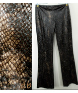 EXPRESS pants PYTHON snakeskin BROWN gold FAUX ... - $15.05