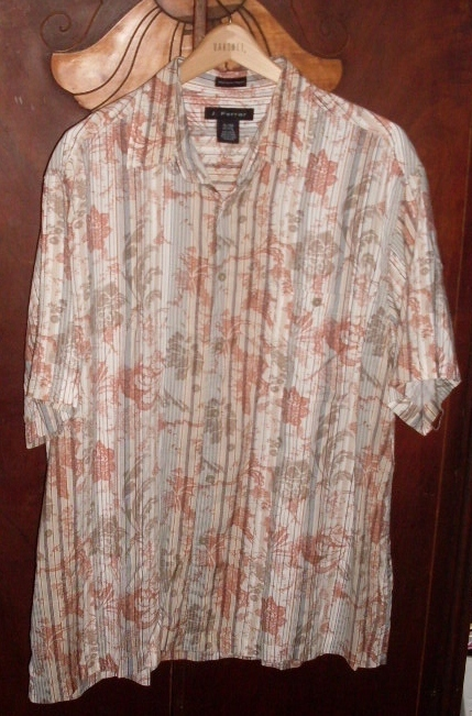 J Ferrer short sleeve shirt size xl 17-17.5