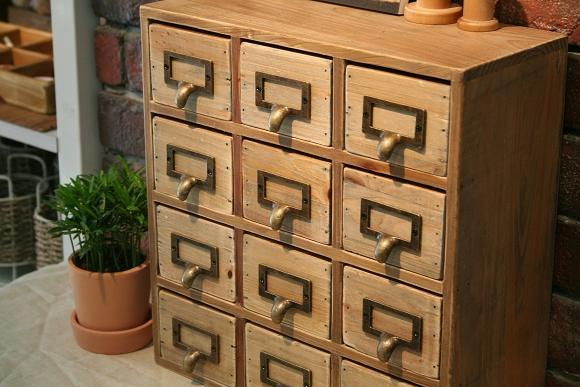 Industrial 12 Drawers Retro Wood Storage