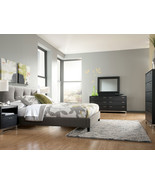 MILANO-5pcs MODERN GLOSSY BLACK QUEEN KING GRAY... - $1,598.76
