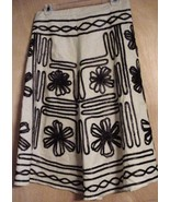 Vintage 1970's Hippie A-line Linen Embroidered ... - $22.72