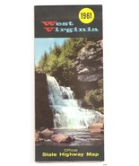 1961 West Virginia Road Map Official early High... - $9.95