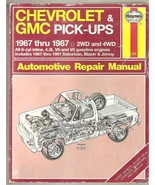 CHEVROLET & GMC Automotive Repair Manual 1967-87 - $12.95
