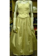 Jessica McClintock Gunne Sax Vintage Gold Lame ... - $59.95