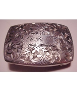 DECO 950 STERLING SILVER ENGRAVED INITIAL BELT ... - $319.95