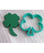 Two Shamrock Cookie Cutters Lucky Four Leaf Clo... - $4.98