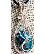 Handmade Tree of Life pendant paua shell person... - $47.00