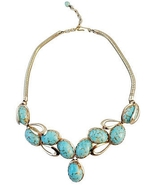 Napier Faux-Turquoise Runway Couture Bib Neckla... - $150.00