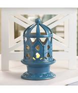 Ceramic Blue Lantern With LED Light - $18.00