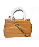 Coach Handbag British Tan Leather Carryall Shou... - $259.00