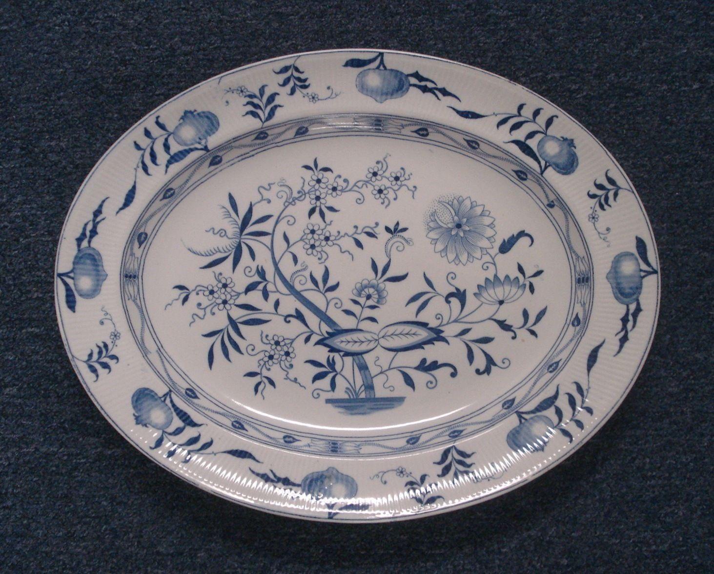 Dresden China Dinnerware Furnival Blue Onion Pattern