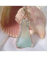 Angelic Sands Aqua Beach Sea glass Pendant - $29.50