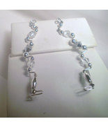 Aurora Borealis in Bloom Sweeps/Pin earrings - $18.50