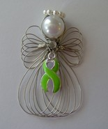 Lymphoma Awareness Angel Ornament Handmade - $7.65