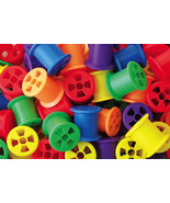 Plastic Stringing Spools kids crafts or bird toy parts