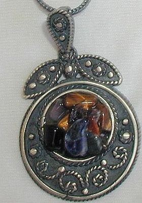 PZ1 check out this unique SILVER pendant