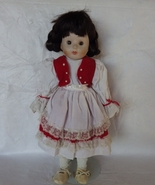 Porcelain Collectors Doll Short Dark Brown hair... - $30.00