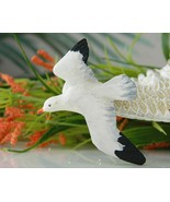 Vintage Flying Seagull Bird Wood Wooden Carved ... - $13.95