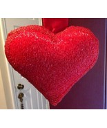 Beaded Shaped Valentine Heart - New in Red - $26.00