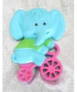 Charming Avon 70s Plastic Elephant Perfume Broo... - $12.95