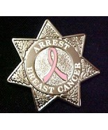 Pink Ribbon Police Sheriff Badge Arrest Breast ... - $12.57