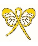 Yellow Butterfly Awareness Ribbon Pin Cancer Ca... - $10.70