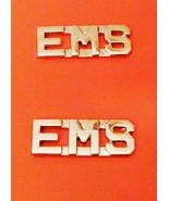 EMS Collar Pin Set Nickel Cut Out Letters Emerg... - $12.97