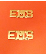 EMS Collar Pin Set Gold Cut Out Letters Emergen... - $12.97