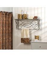 BATH ENSEMBLE leopard print shower curtain, han... - $24.79