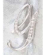 Elegant Silvery Crystal Rhinestone Monogram Sci... - $9.95