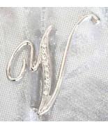 Art Moderne Crystal Rhinestone Monogram Scipt V... - $12.00